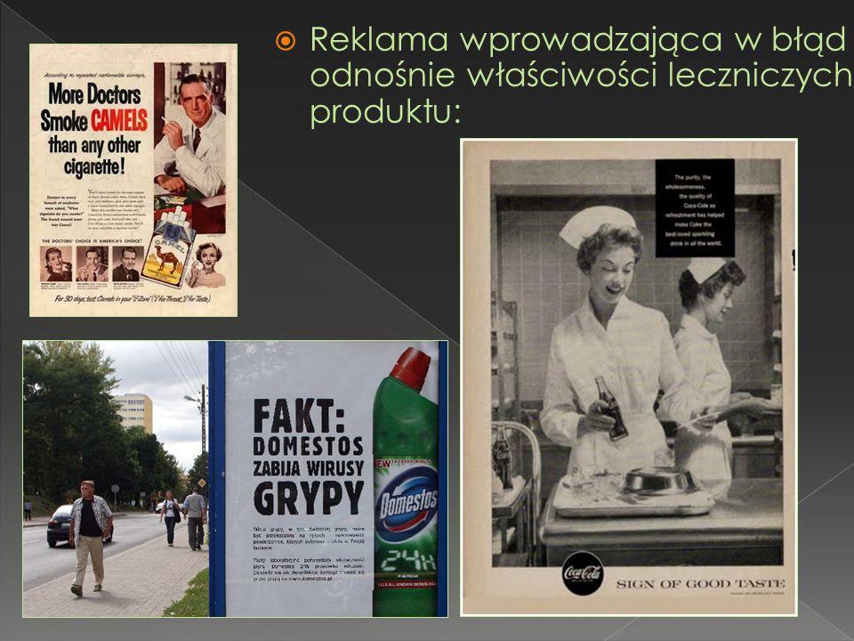 Reklama wprowadzająca w błąd odnośnie właściwości leczniczych produktu: