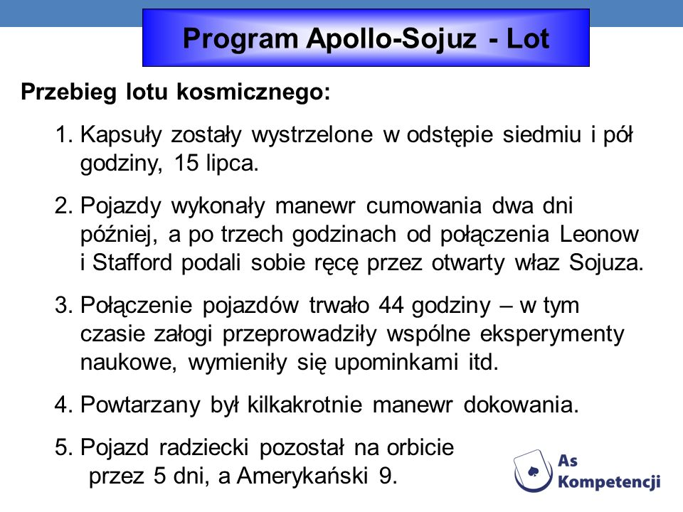 Program Apollo-Sojuz - Lot