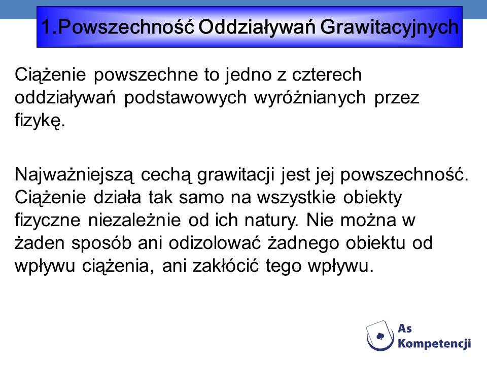 1.Powszechność Oddziaływań Grawitacyjnych