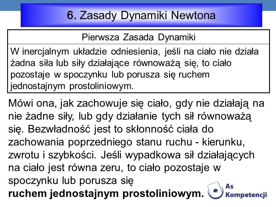 6. Zasady Dynamiki Newtona