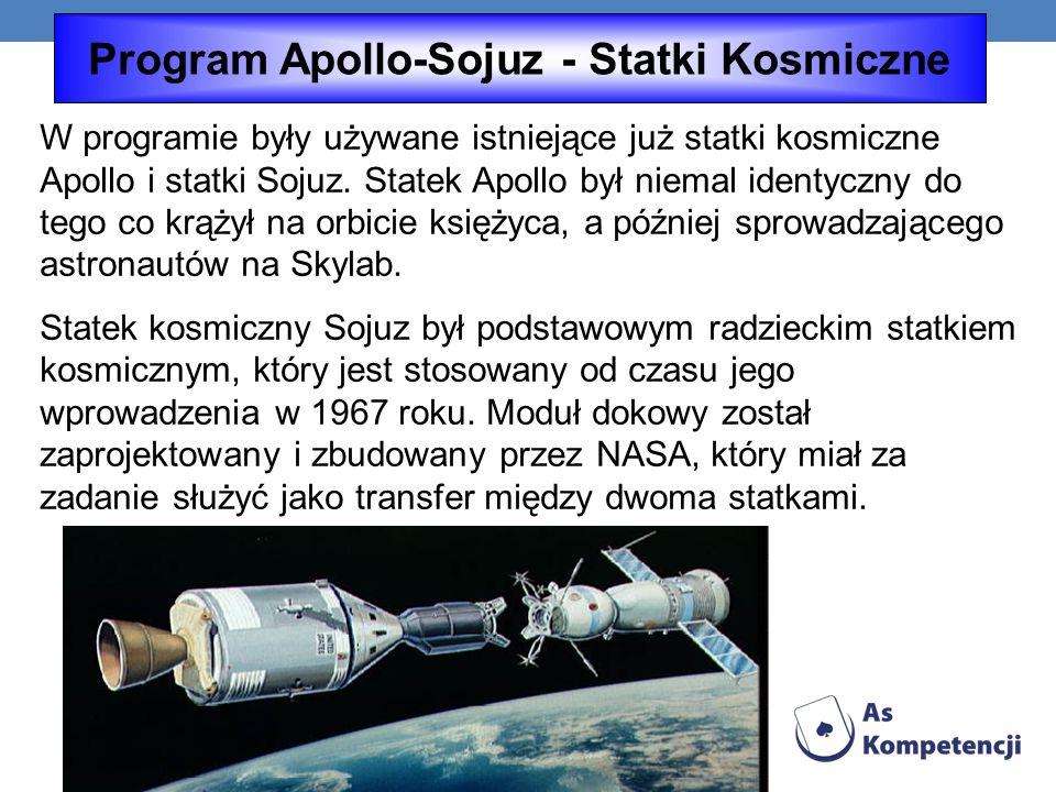 Program Apollo-Sojuz - Statki Kosmiczne
