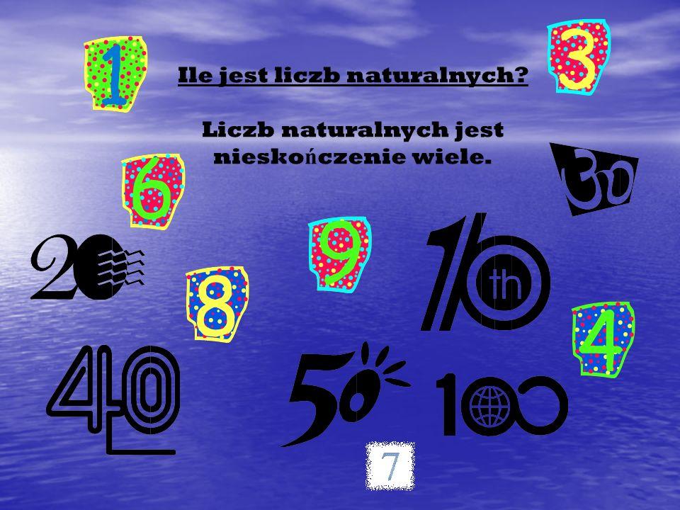 Ile jest liczb naturalnych
