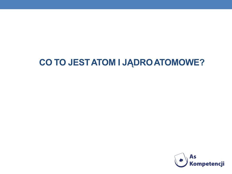 Co to jest atom i jądro atomowe