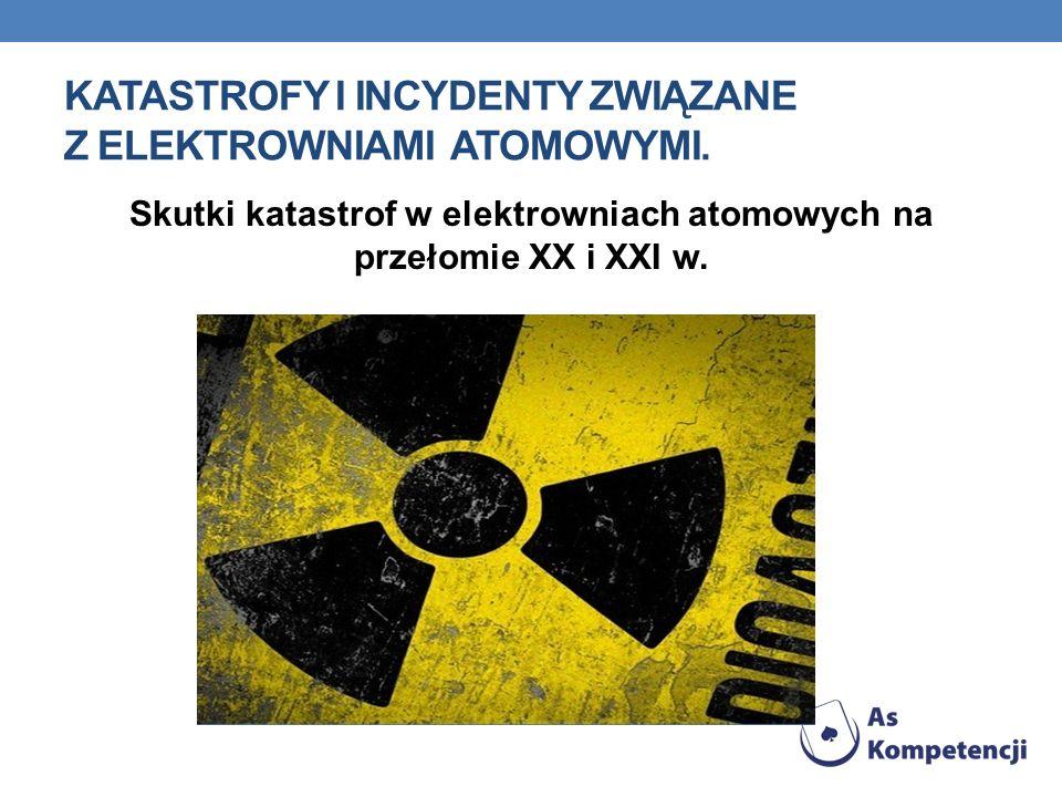Katastrofy i incydenty związane z elektrowniami atomowymi.