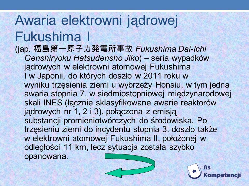Awaria elektrowni jądrowej Fukushima I