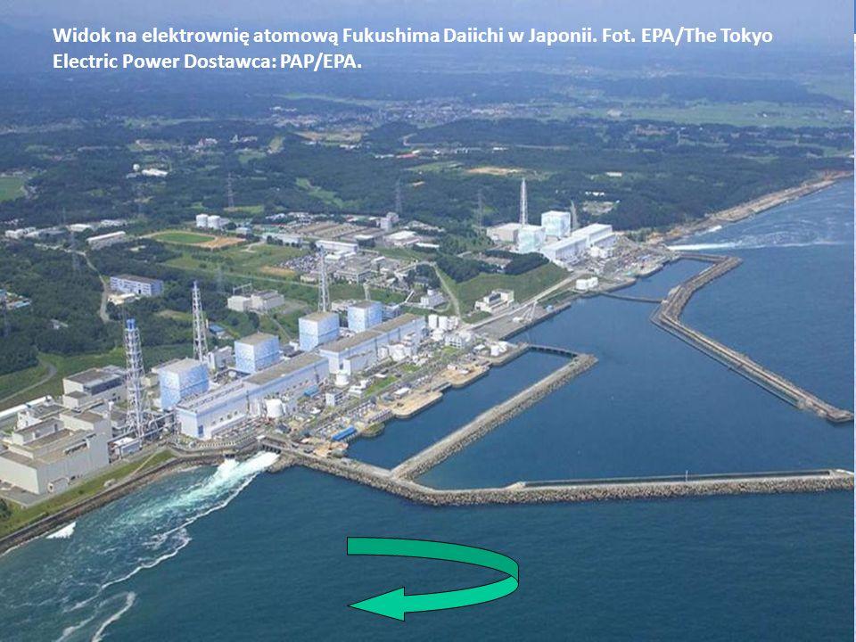 Widok na elektrownię atomową Fukushima Daiichi w Japonii. Fot