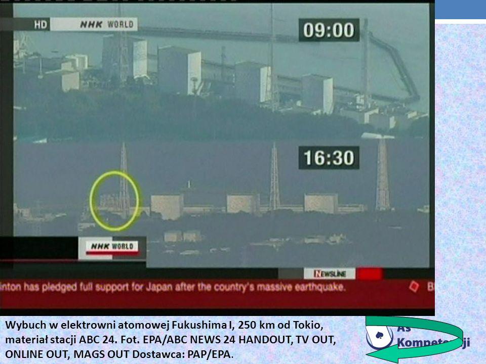 Wybuch w elektrowni atomowej Fukushima I, 250 km od Tokio, materiał stacji ABC 24.