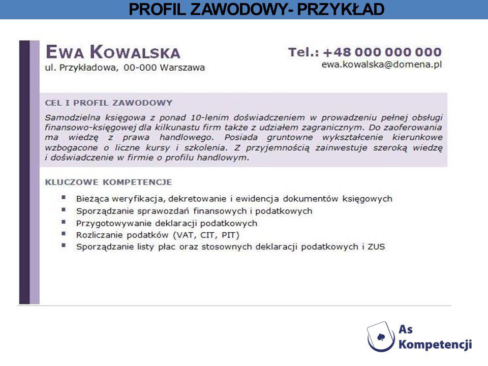 Profil zawodowy- przykład