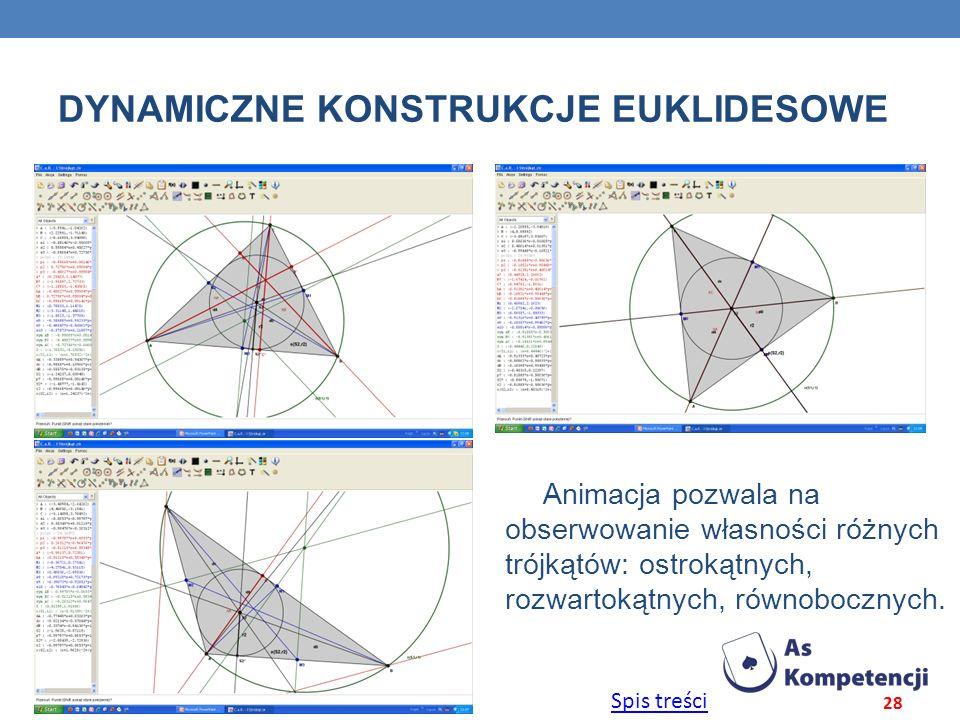 Dynamiczne konstrukcje euklidesowe