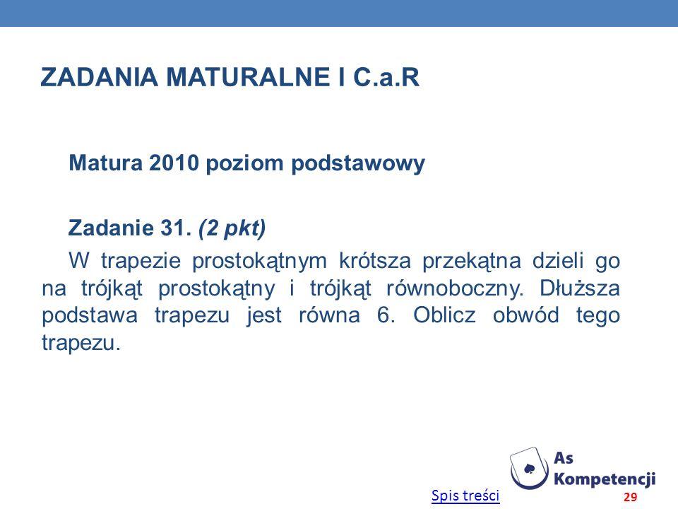 Zadania maturalne i C.a.r