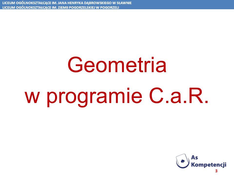Geometria w programie C.a.R.