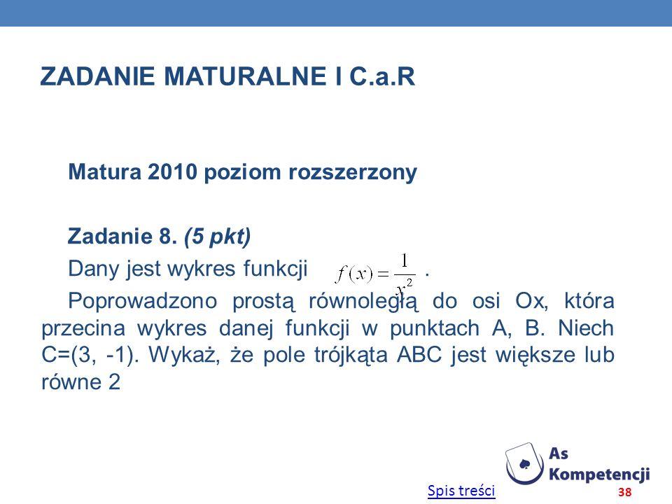 Zadanie maturalne i C.a.r
