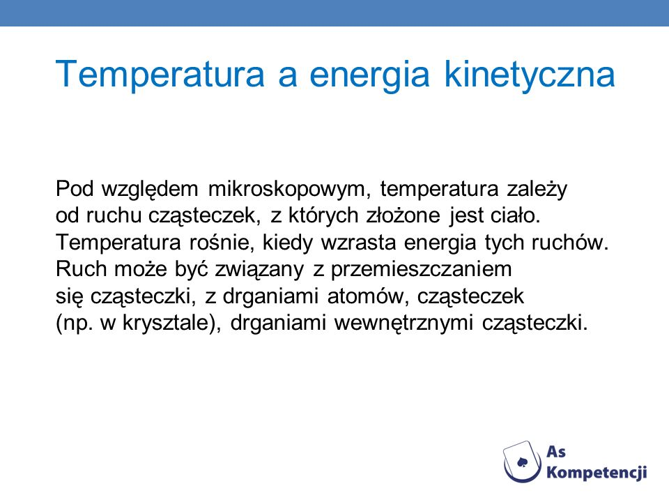 Temperatura a energia kinetyczna