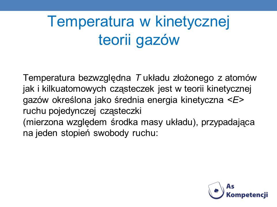 Temperatura w kinetycznej teorii gazów
