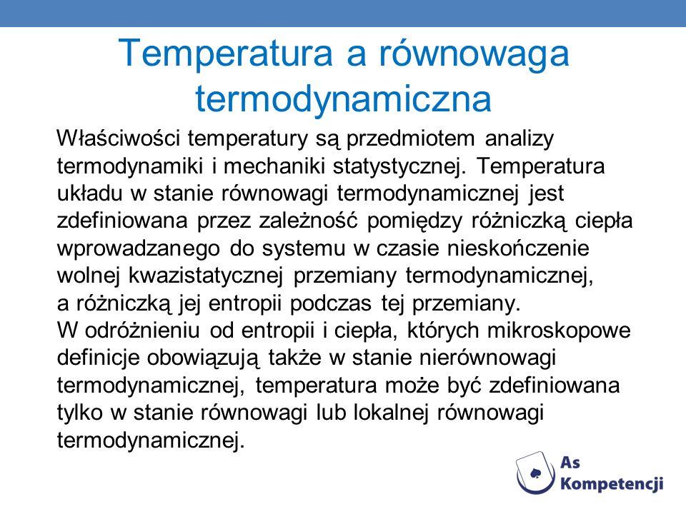 Temperatura a równowaga termodynamiczna