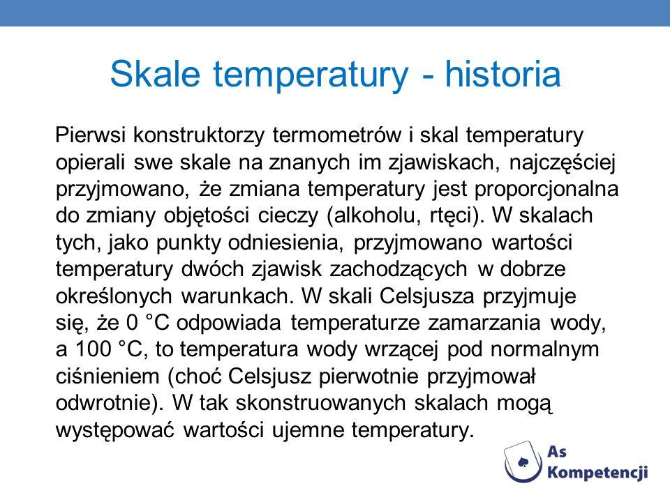 Skale temperatury - historia