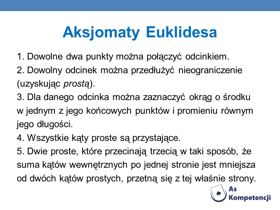 Aksjomaty Euklidesa