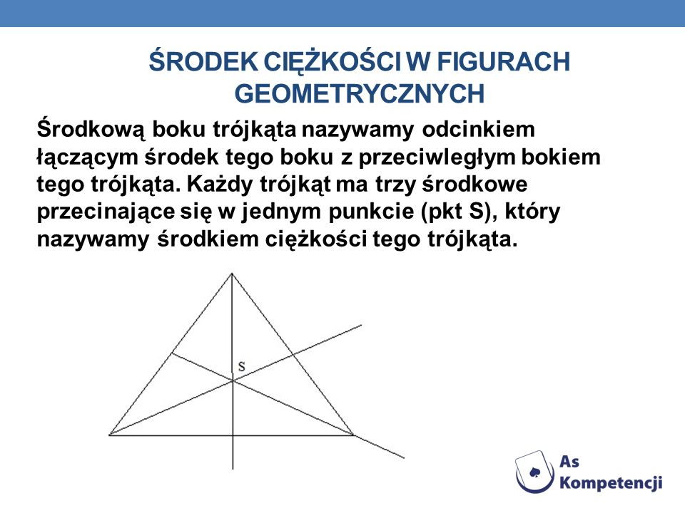 Środek ciężkości w figurach geometrycznych