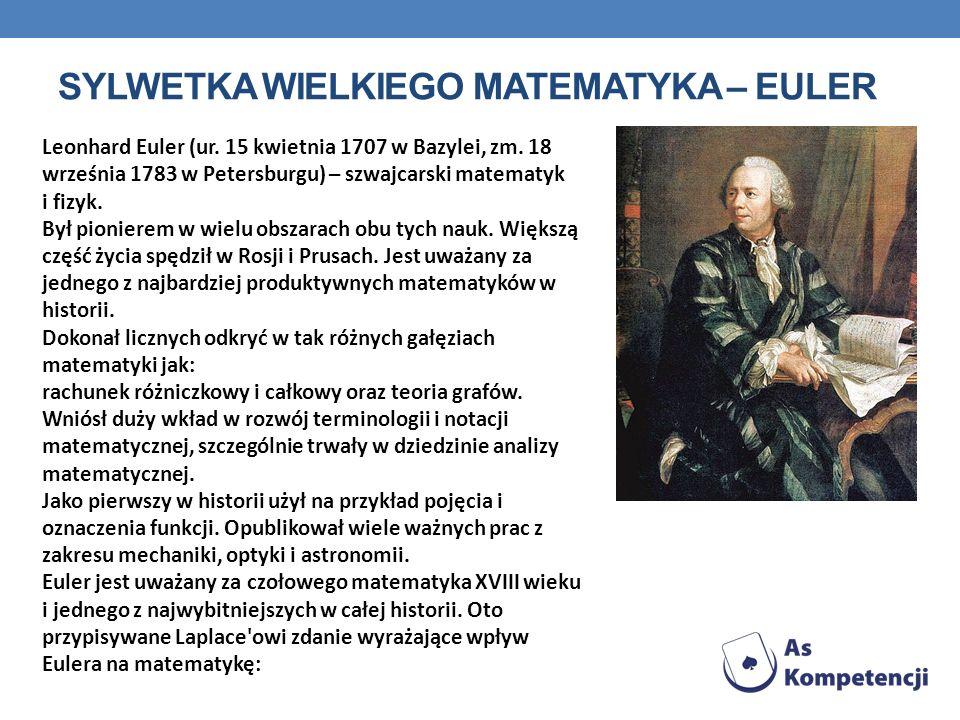 SYLWETKA WIELKIEGO MATEMATYKA – euler