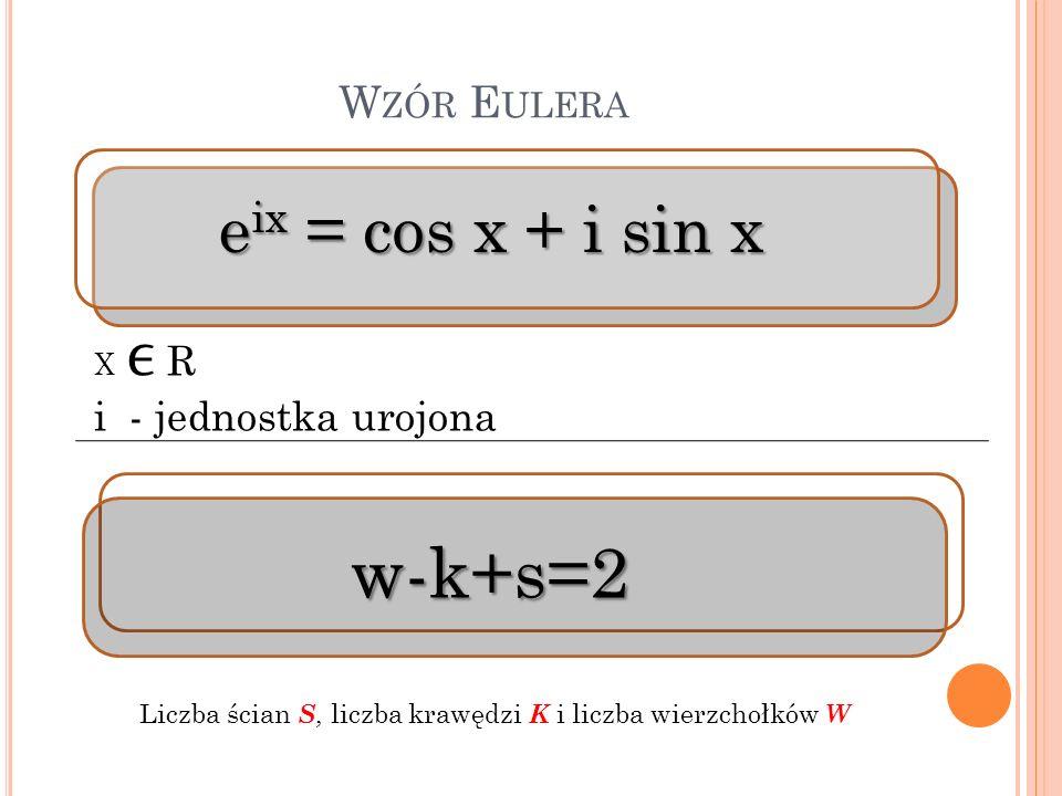 Liczba ścian S, liczba krawędzi K i liczba wierzchołków W