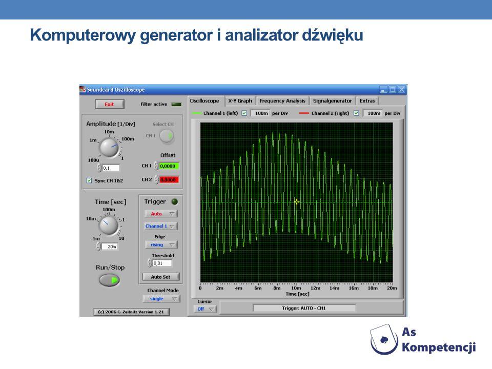Komputerowy generator i analizator dźwięku