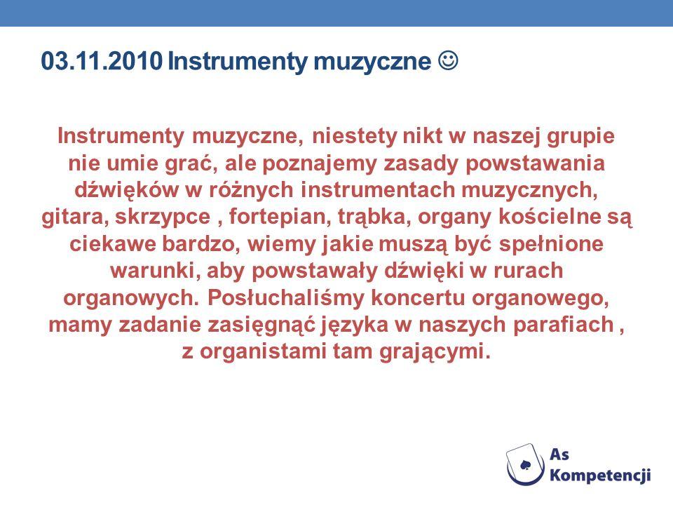 03.11.2010 Instrumenty muzyczne 