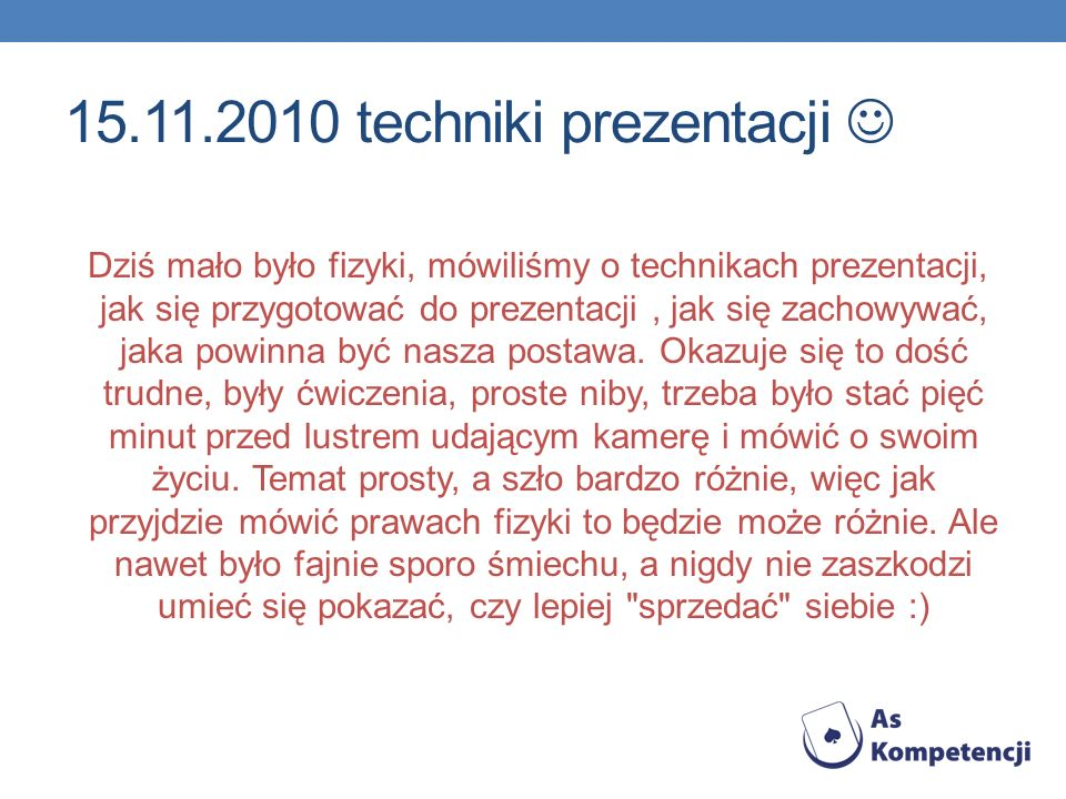 15.11.2010 techniki prezentacji 