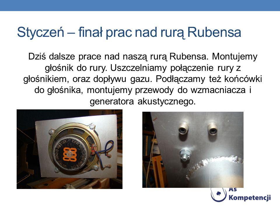 Styczeń – finał prac nad rurą Rubensa