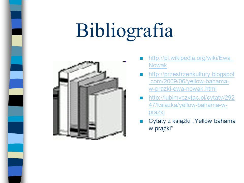 Bibliografia http://pl.wikipedia.org/wiki/Ewa_Nowak