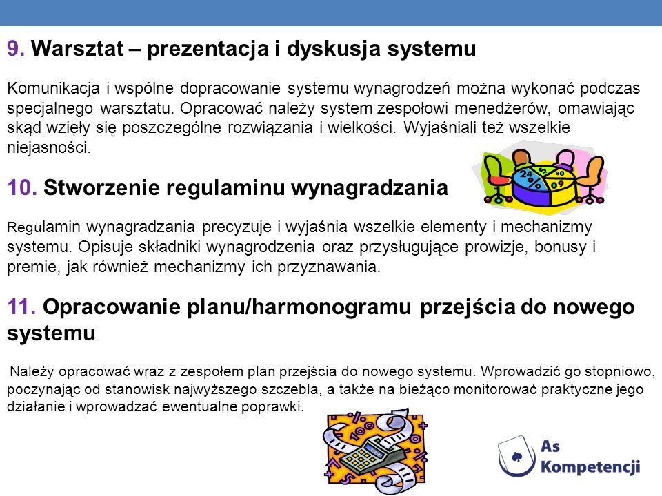 9. Warsztat – prezentacja i dyskusja systemu