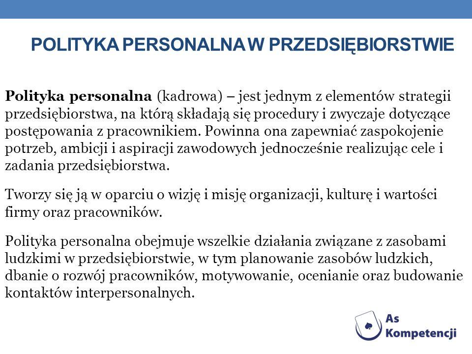 Polityka personalna w przedsiębiorstwie
