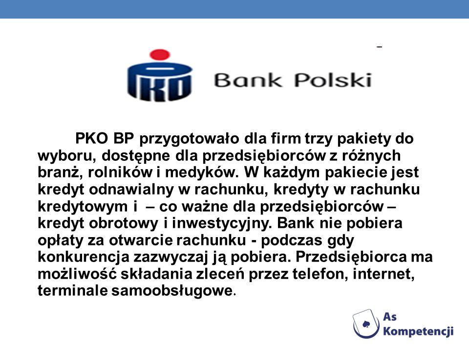 PKO BP przygotowało dla firm trzy pakiety do wyboru, dostępne dla przedsiębiorców z różnych branż, rolników i medyków.