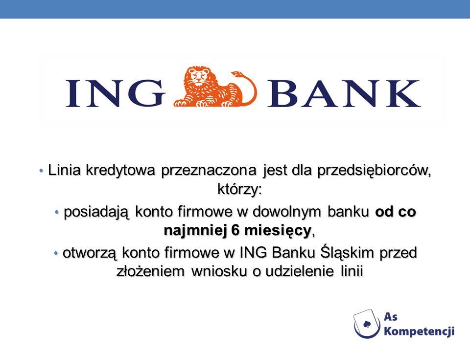 Linia kredytowa przeznaczona jest dla przedsiębiorców, którzy: