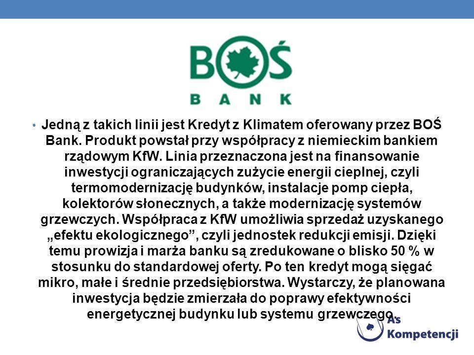 Jedną z takich linii jest Kredyt z Klimatem oferowany przez BOŚ Bank