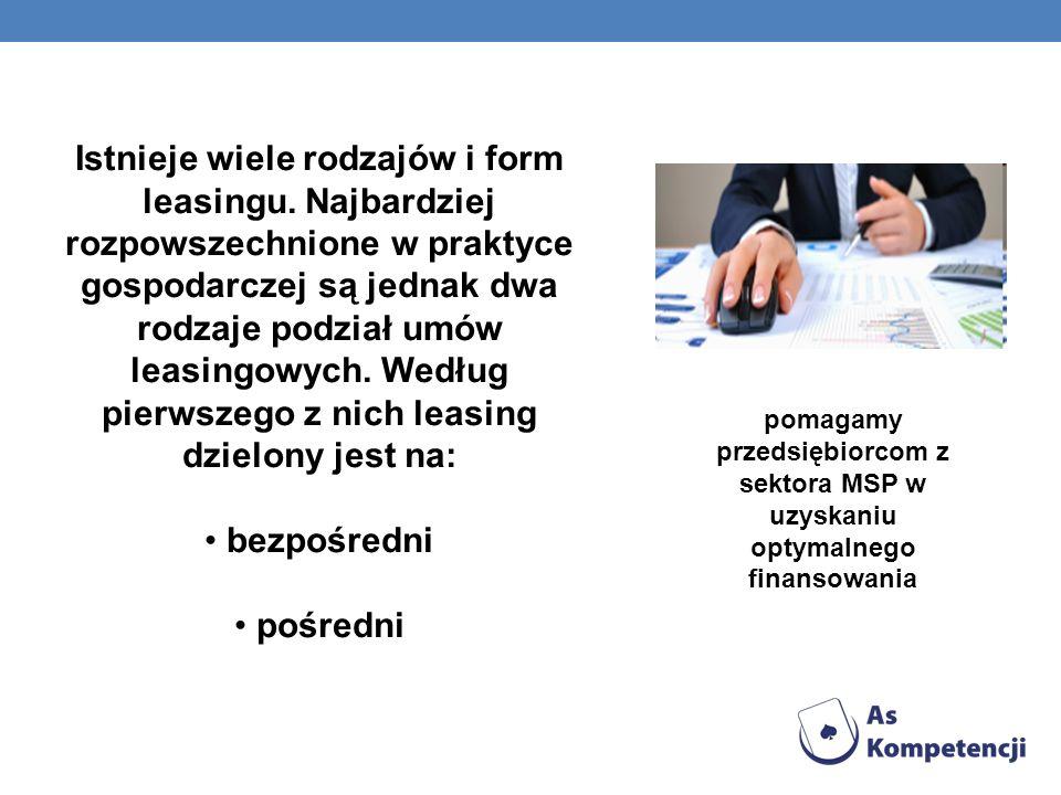 Istnieje wiele rodzajów i form leasingu