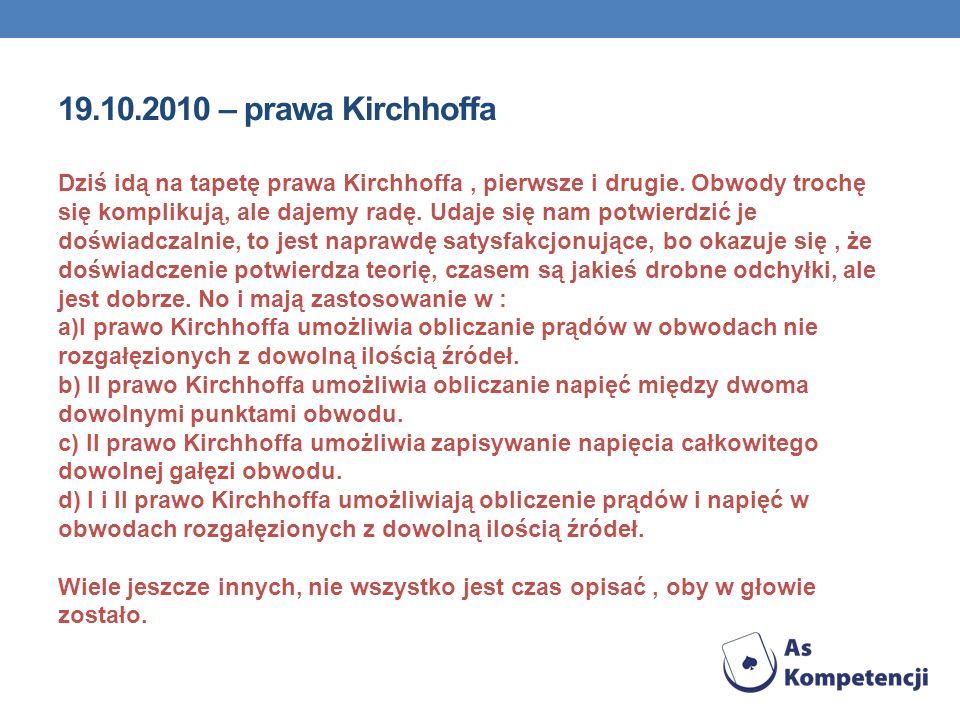 19.10.2010 – prawa Kirchhoffa