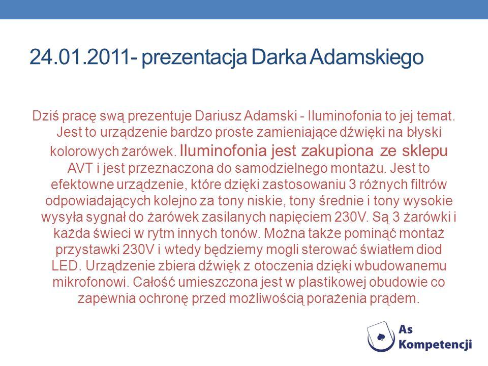 24.01.2011- prezentacja Darka Adamskiego
