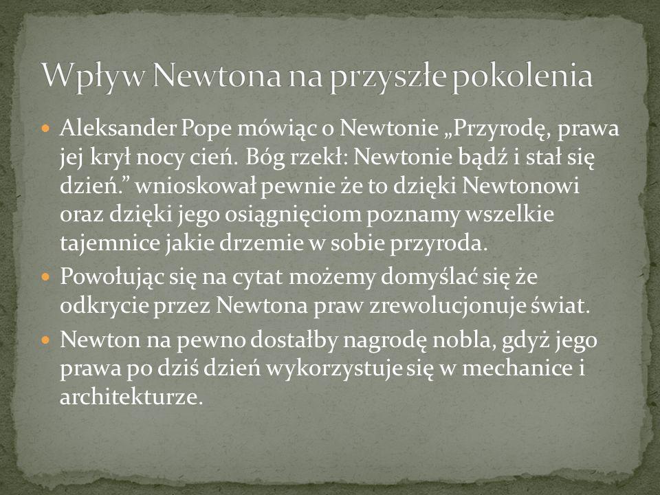 Wpływ Newtona na przyszłe pokolenia