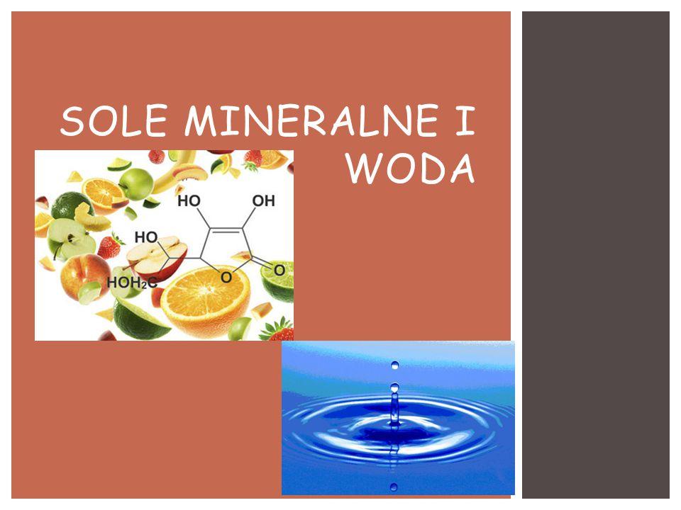SOLE MINERALNE I WODA
