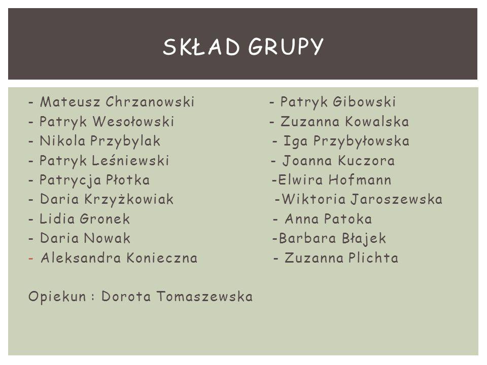 Skład grupy - Mateusz Chrzanowski - Patryk Gibowski