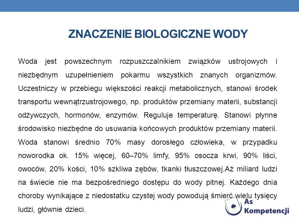 Znaczenie biologiczne wody
