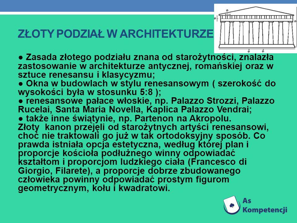 Złoty podział w architekturze