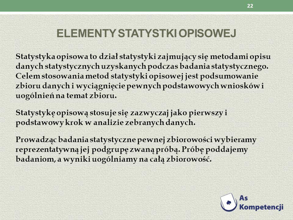 Elementy statystki opisowej