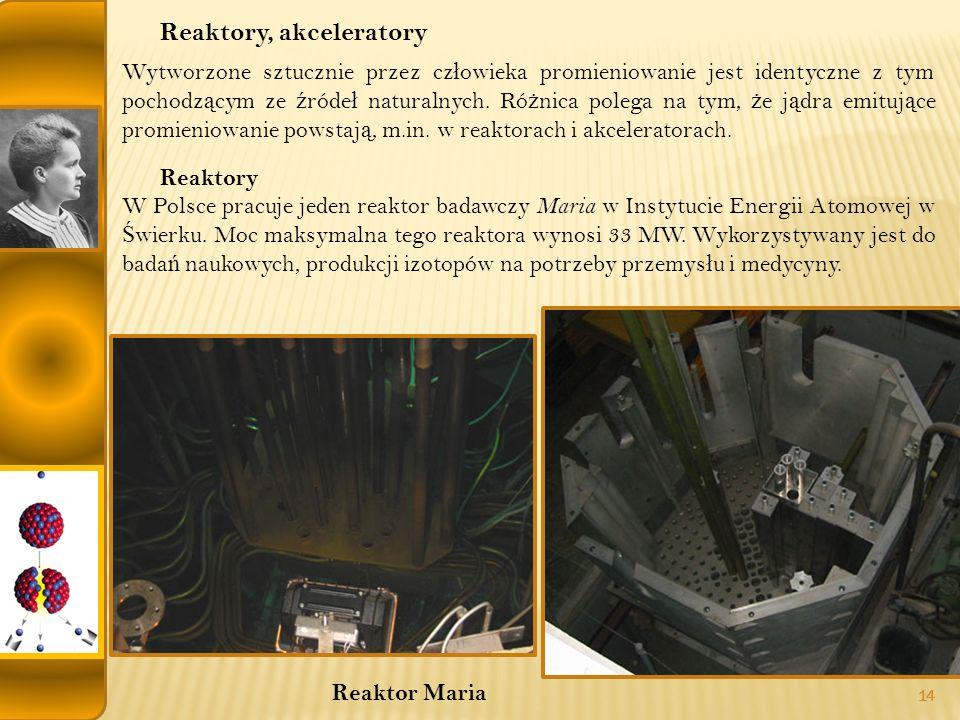 Reaktory, akceleratory