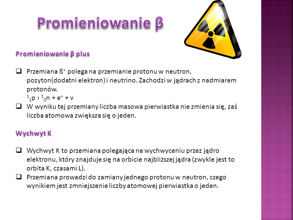 Promieniowanie β Promieniowanie β plus