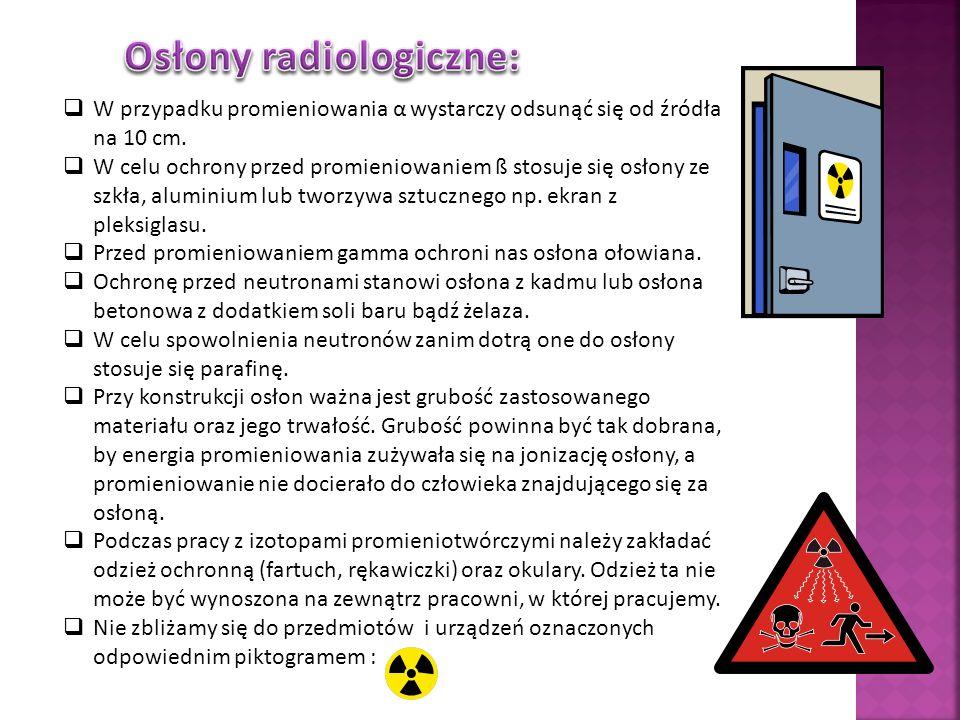 Osłony radiologiczne:
