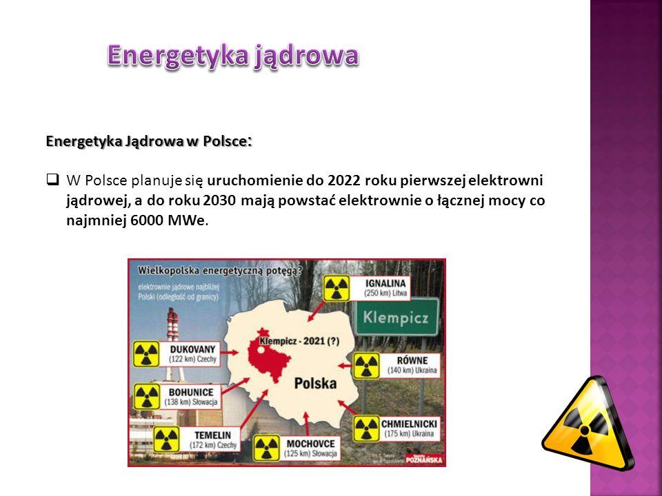 Energetyka jądrowa Energetyka Jądrowa w Polsce: