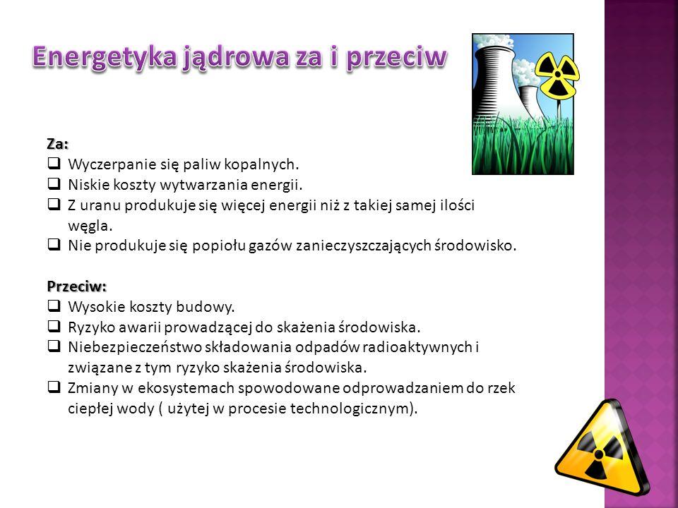 Energetyka jądrowa za i przeciw