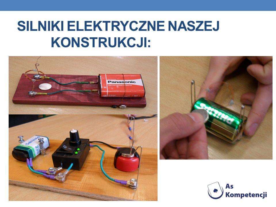 Silniki elektryczne naszej konstrukcji: