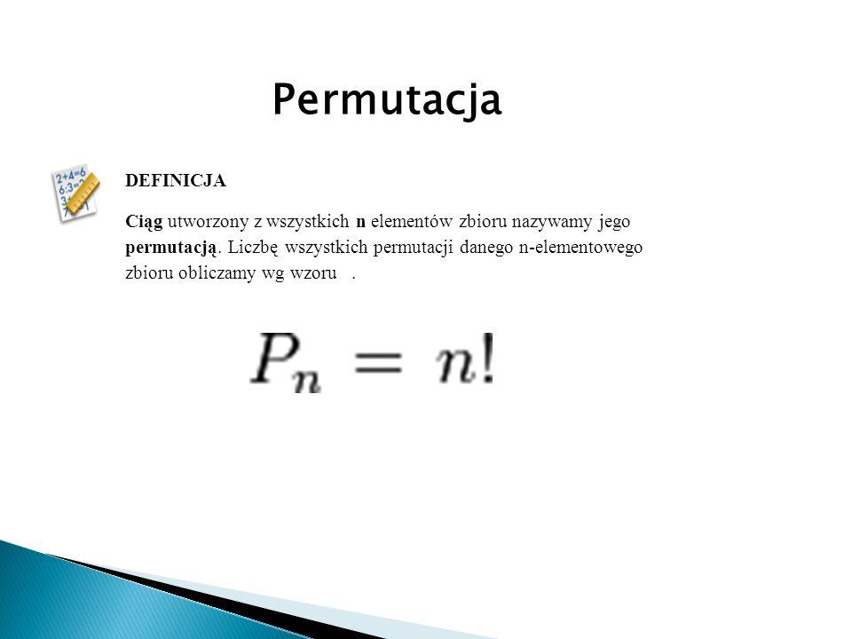 Permutacja DEFINICJA.